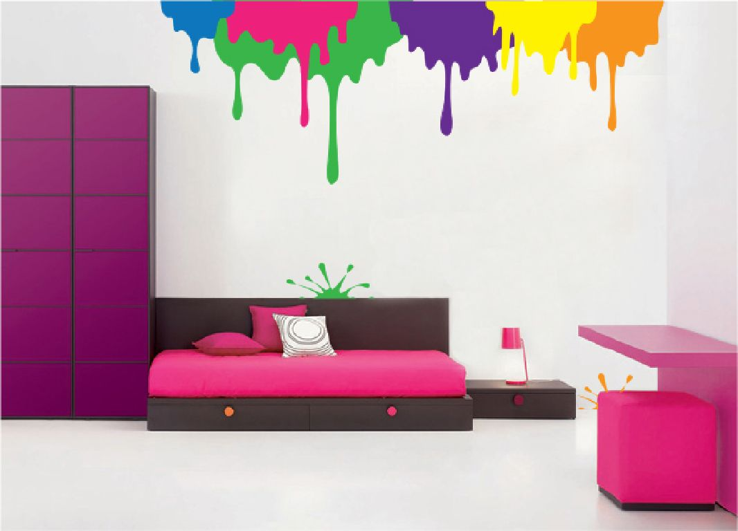 Drips And A Splat Paint By Number Wall Mural Wall Murals Diy Wall Murals Art Classroom Decor