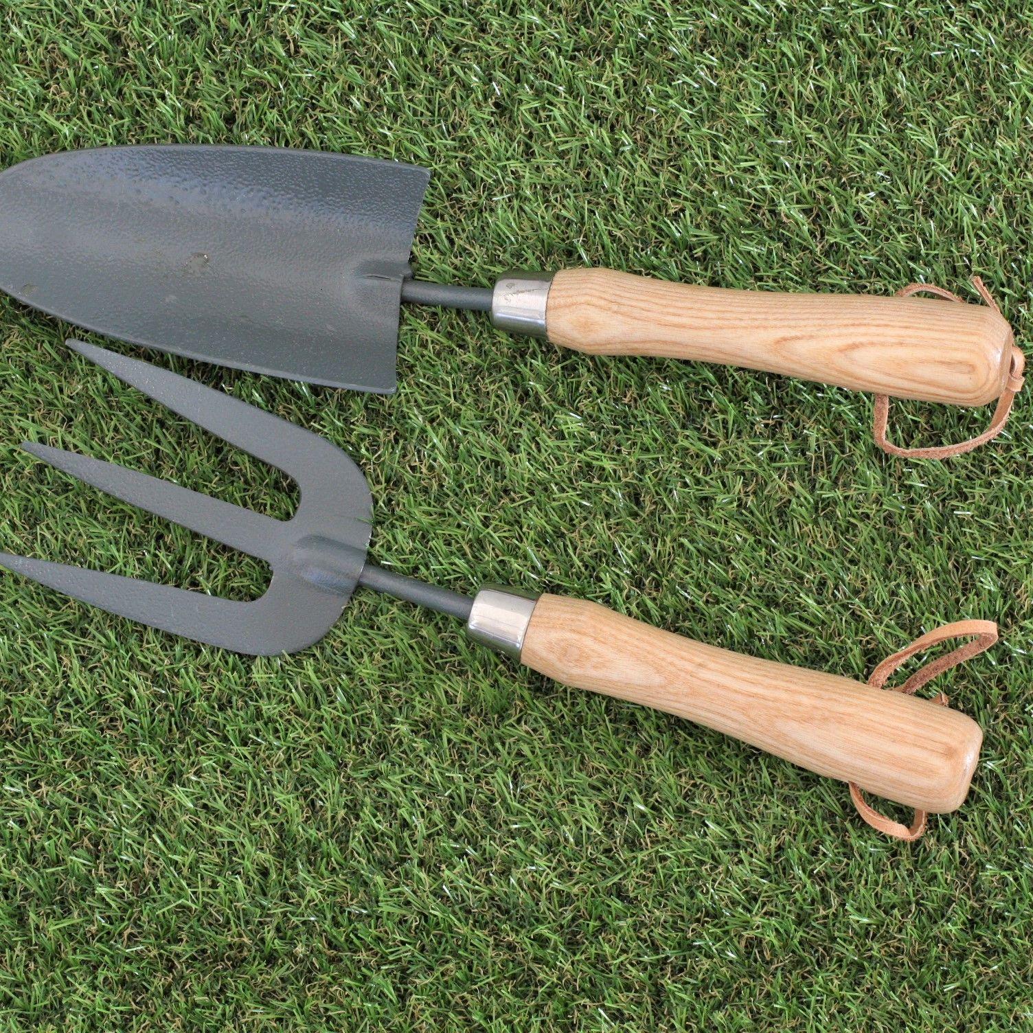 Personalised Fork And Trowel Gardening Set Garden Tool Set