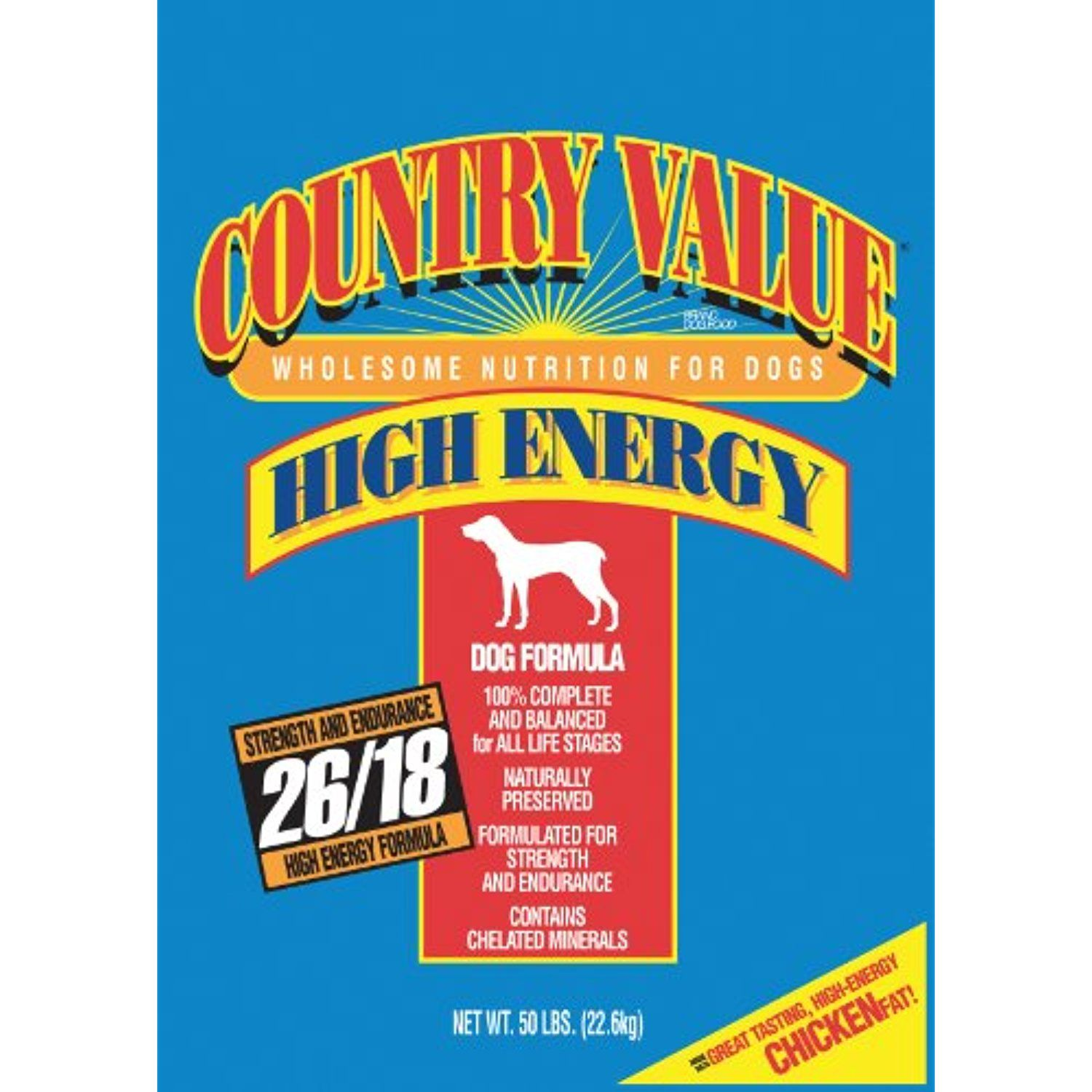 Country value dry food for adult dogs highenergy