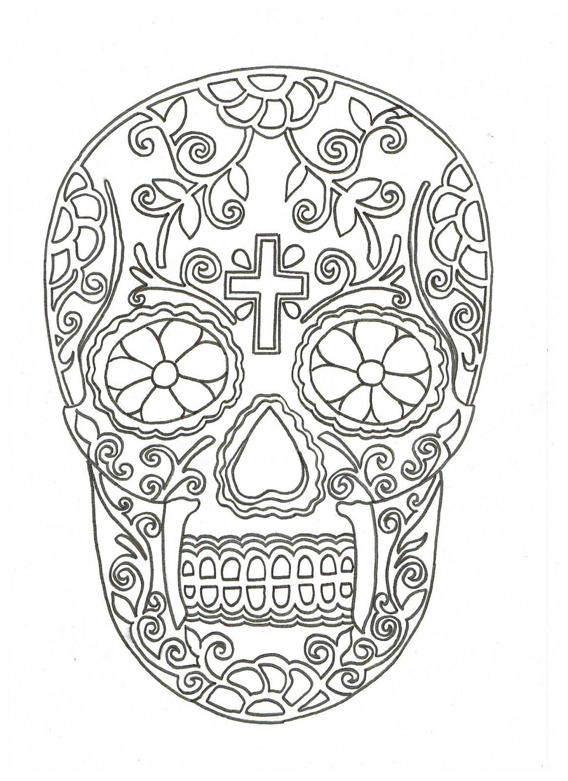 Calavera Skull Template | www.pixshark.com - Images ...