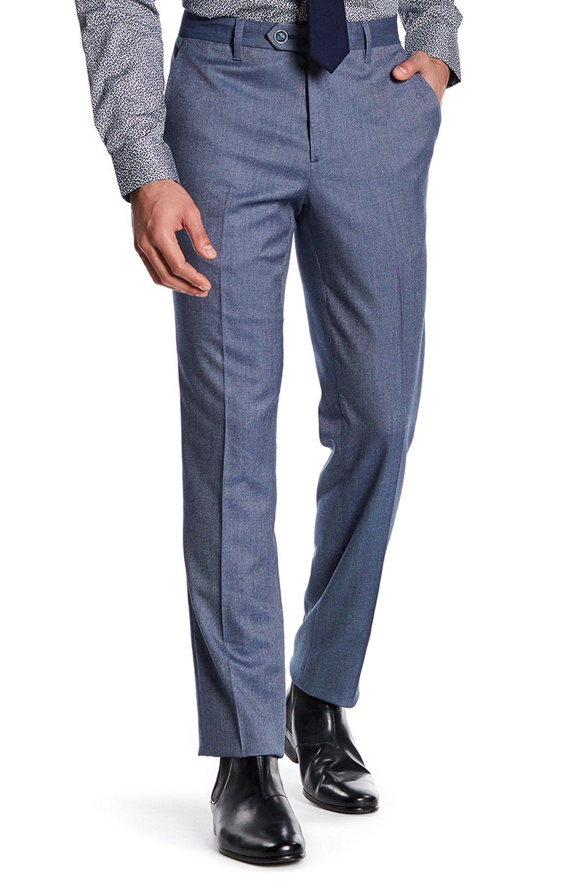 Blue Pin Dot Trouser