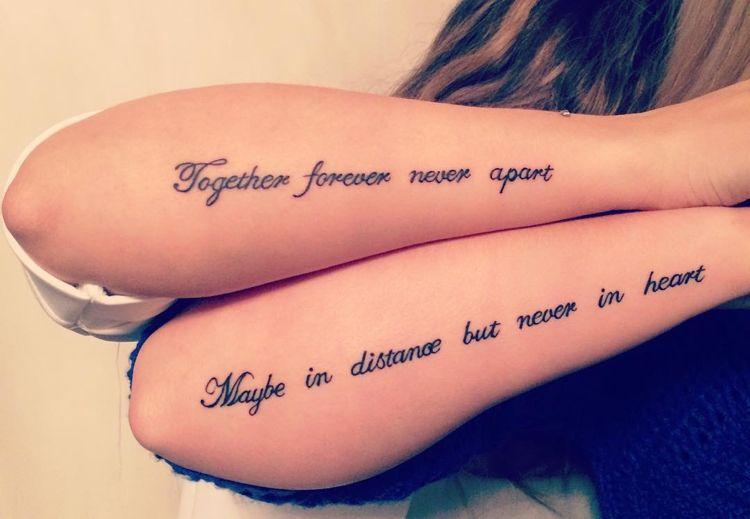 Idee fantastiche per un tatuaggio di amicizia – simboli e motivi per l'eternità – nuovo meglio