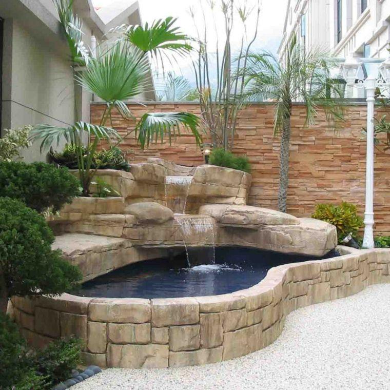 Estanque de piedra con cascada ideas para el hogar for Cascadas de piedra para jardin