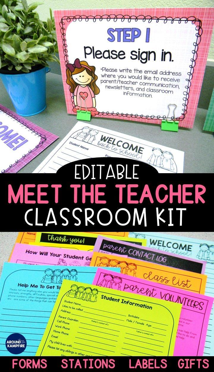 Meet the Teacher Parent Stations & Back to School Forms #meettheteacherideas