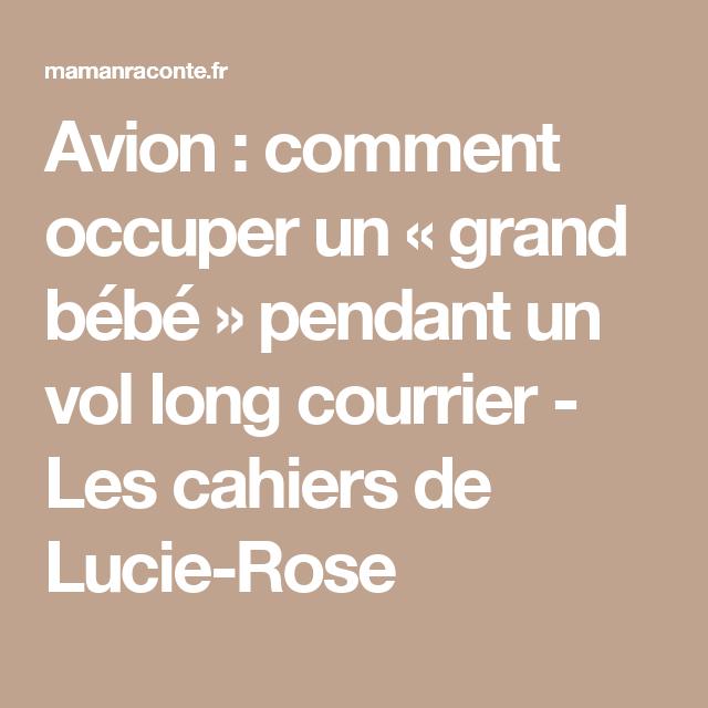 Avion : comment occuper un « grand bébé » pendant un vol long courrier - Les cahiers de Lucie-Rose