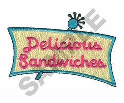 DELICIOUS SANDWICHES embroidery design