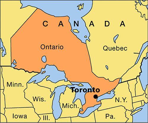 Canada Map Of Ontario
