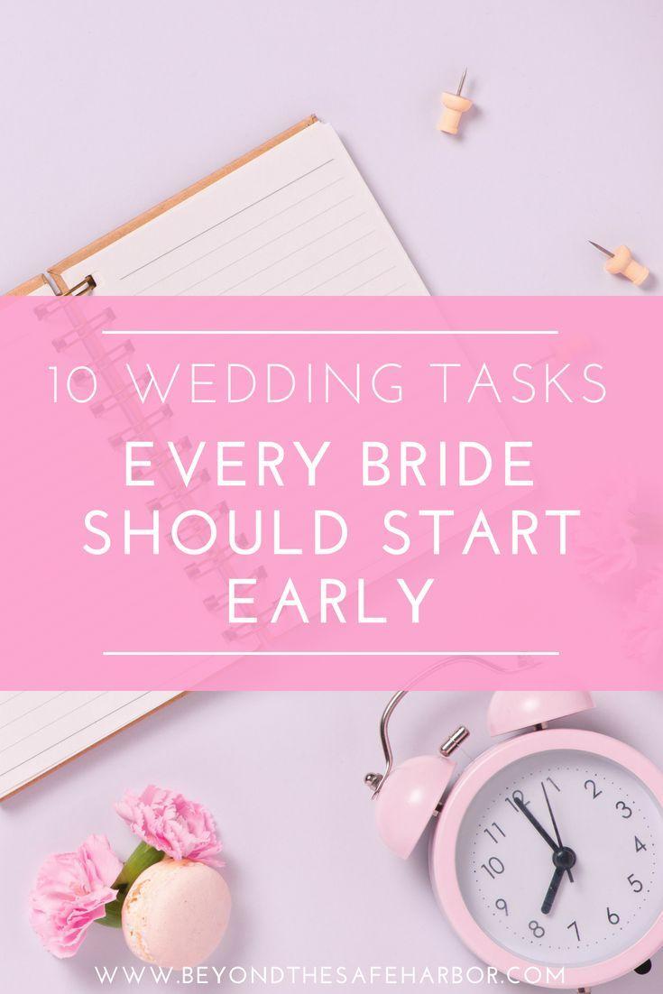 10 Wedding To Dos You Should Conquer Way Early | Wedding ...