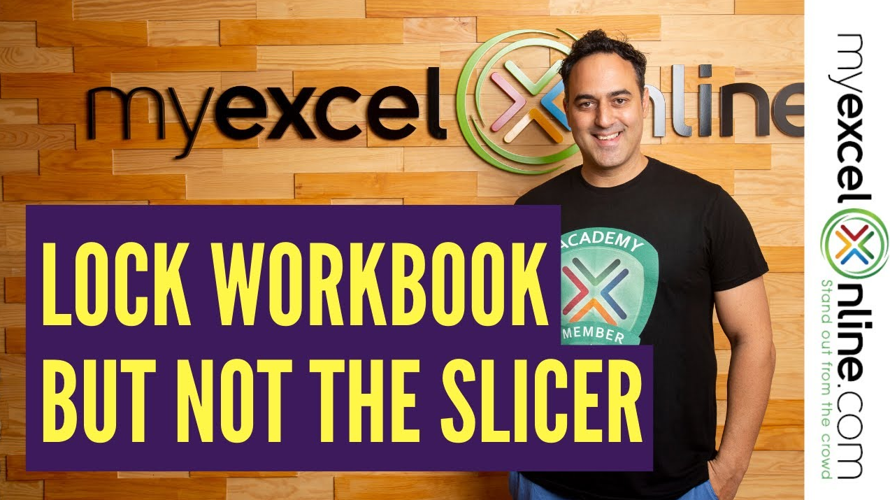 How To Lock Pivot Table But Not The Slicer Myexcelonline In 2021 Pivot Table Excel Tutorials Microsoft Excel Tutorial