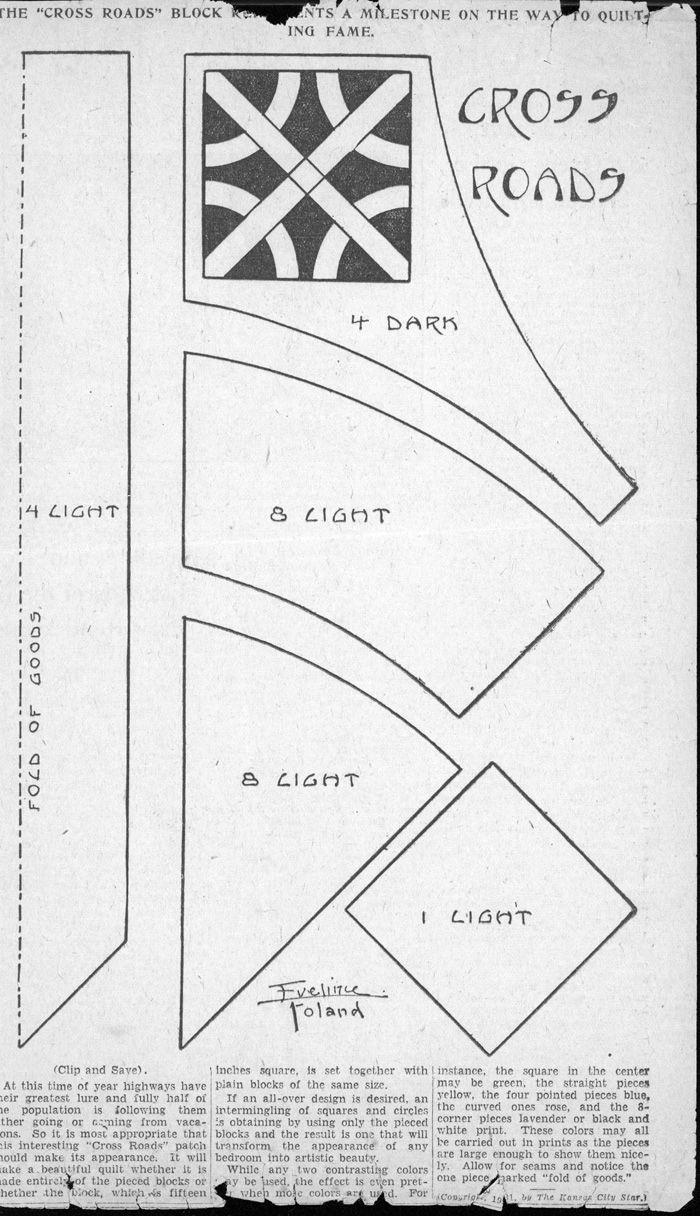 Kansas City Star Cross Roads 1931 | patrones blok | Pinterest ...
