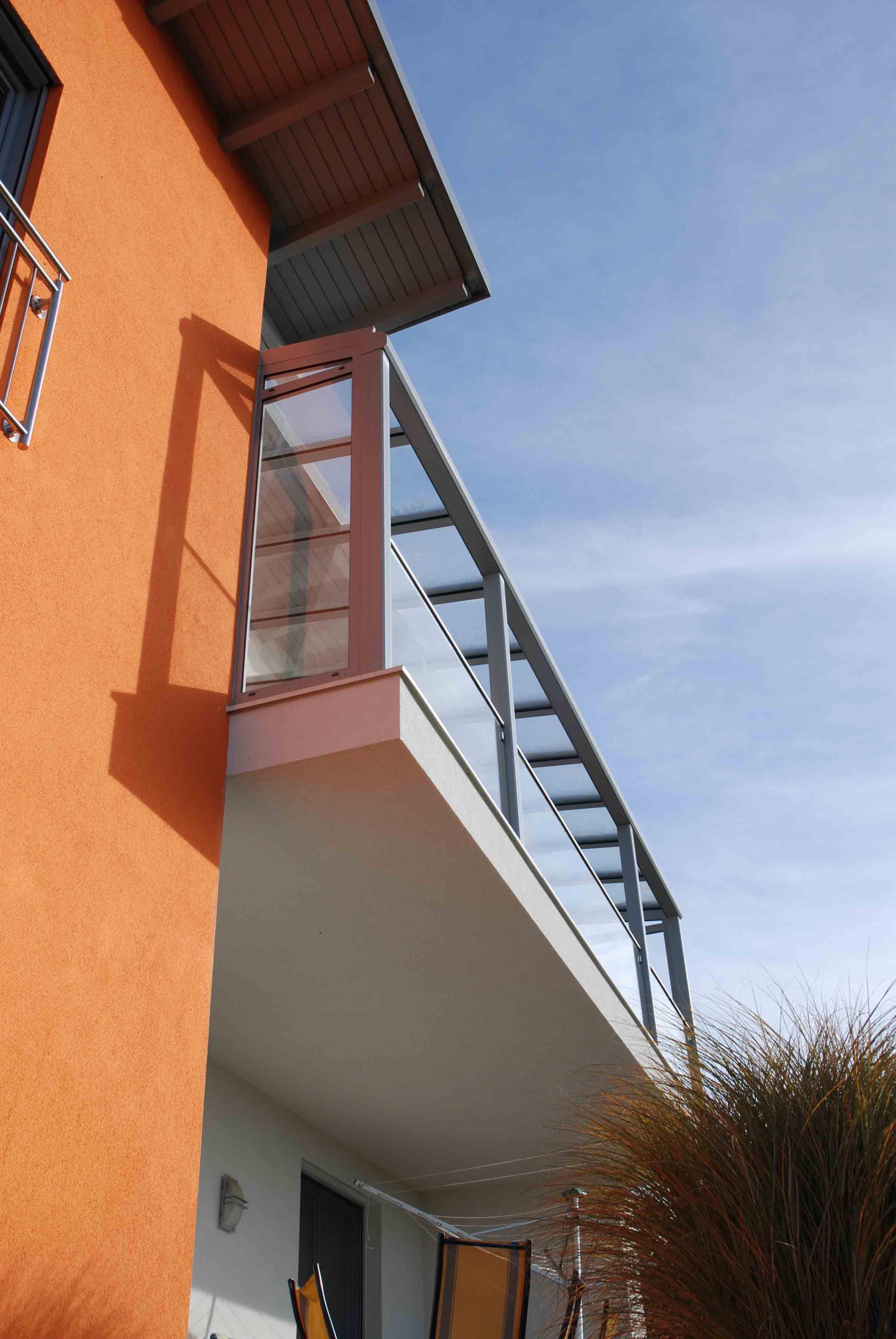 Balkonuberdachung Alu Glas Verglasungen Balkon Terrasse