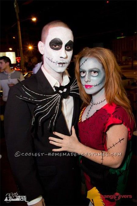 Halloween is all set to cast its wings around the horrifying jack and sally skelington costume ideas solutioingenieria Gallery