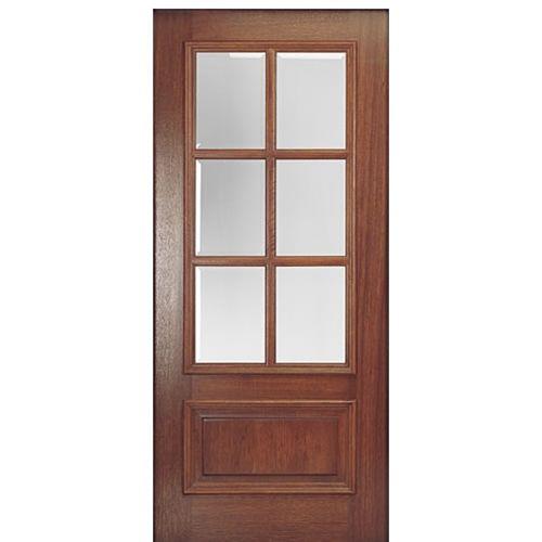Entry Door MAI Doors DD6L 1 Delta True Divided Lite, 6 Lite Panel