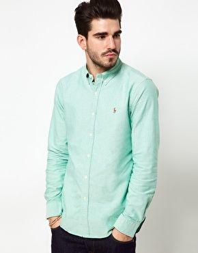 Polo Ralph Lauren Shirt In Green Oxford  d518b494567a0