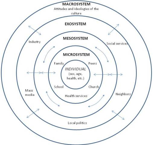 Homelessness In Classroom Eco Systems Model Graphic