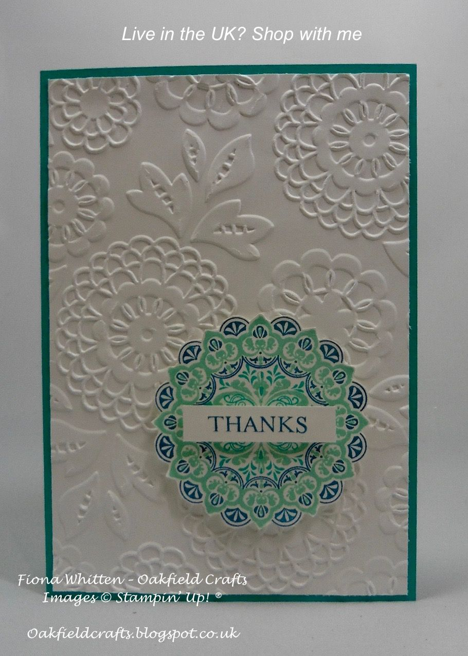 shimmery stamp img stampin medallion up