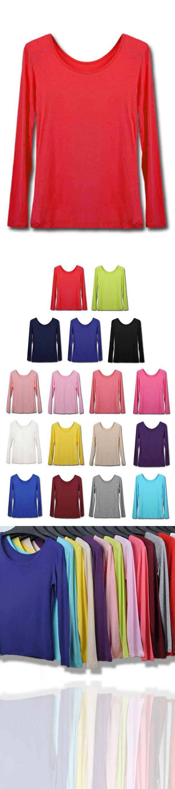 Photo of 2019 Frauen Rundhals Modal Stretch & dünnes T-Shirt Tops Langarm für moslemische Kleider € 17.14 SAP2EM6P3A – SchickeAbendKleider.de