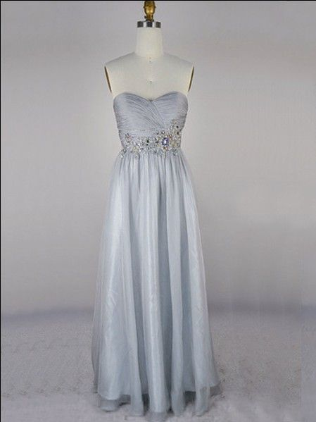 elegant long sweetheart affordable rhinestone sequins bridesmaid dress | Cheap prom dresses Sale