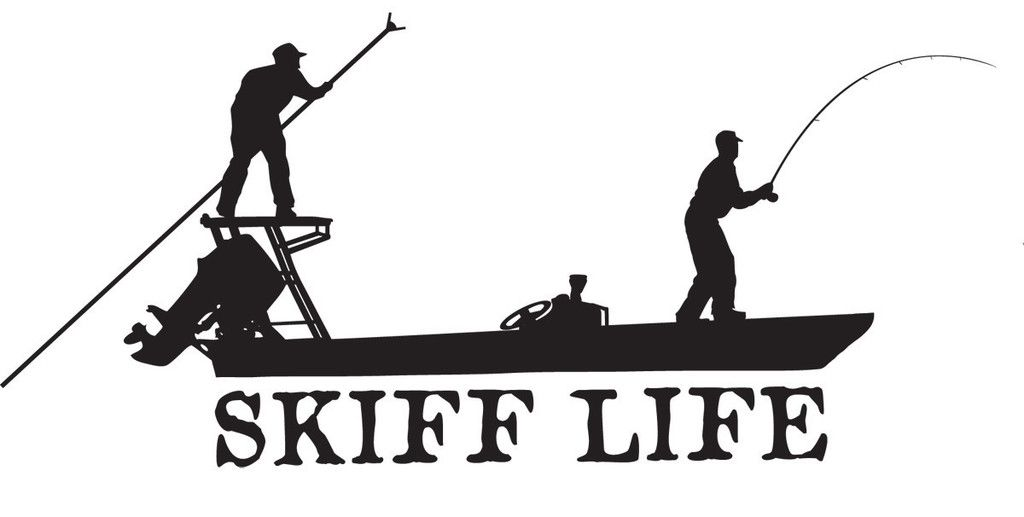 Skiff life poling skiff boat flats fishing decals for Fishing boat decals