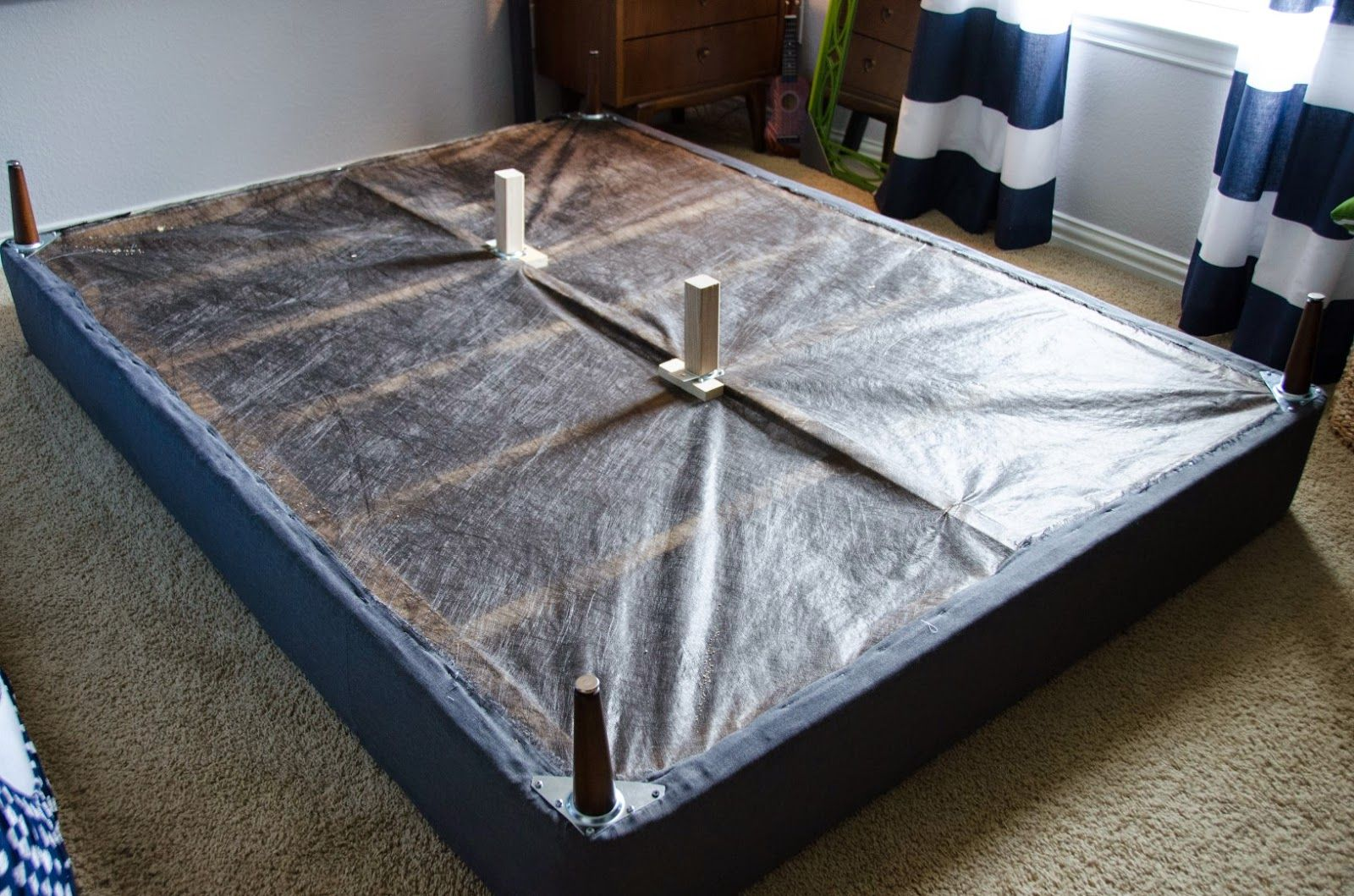 When I Was Thinking About All The Different Kinds Of Beds I Could Make For E My Main Goal Was To Reuse A Box Spring Bed Frame Box Spring Bed Spring