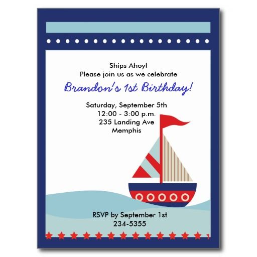 Quality product sailing sail boat nautical birthday invitation quality product sailing sail boat nautical birthday invitation postcards sailing sail boat nautical birthday filmwisefo