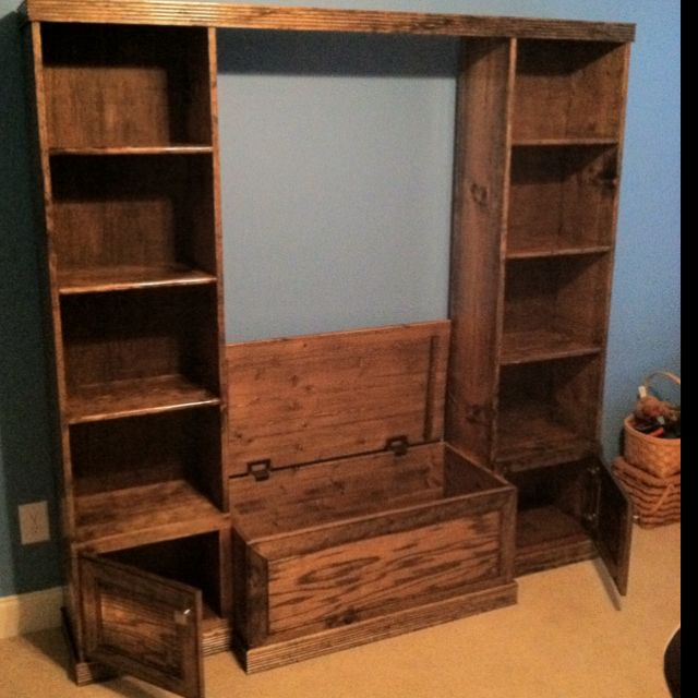 Child S Toy Box Book Case Combination Diy Pallet Furniture Bookcase Pallet Diy