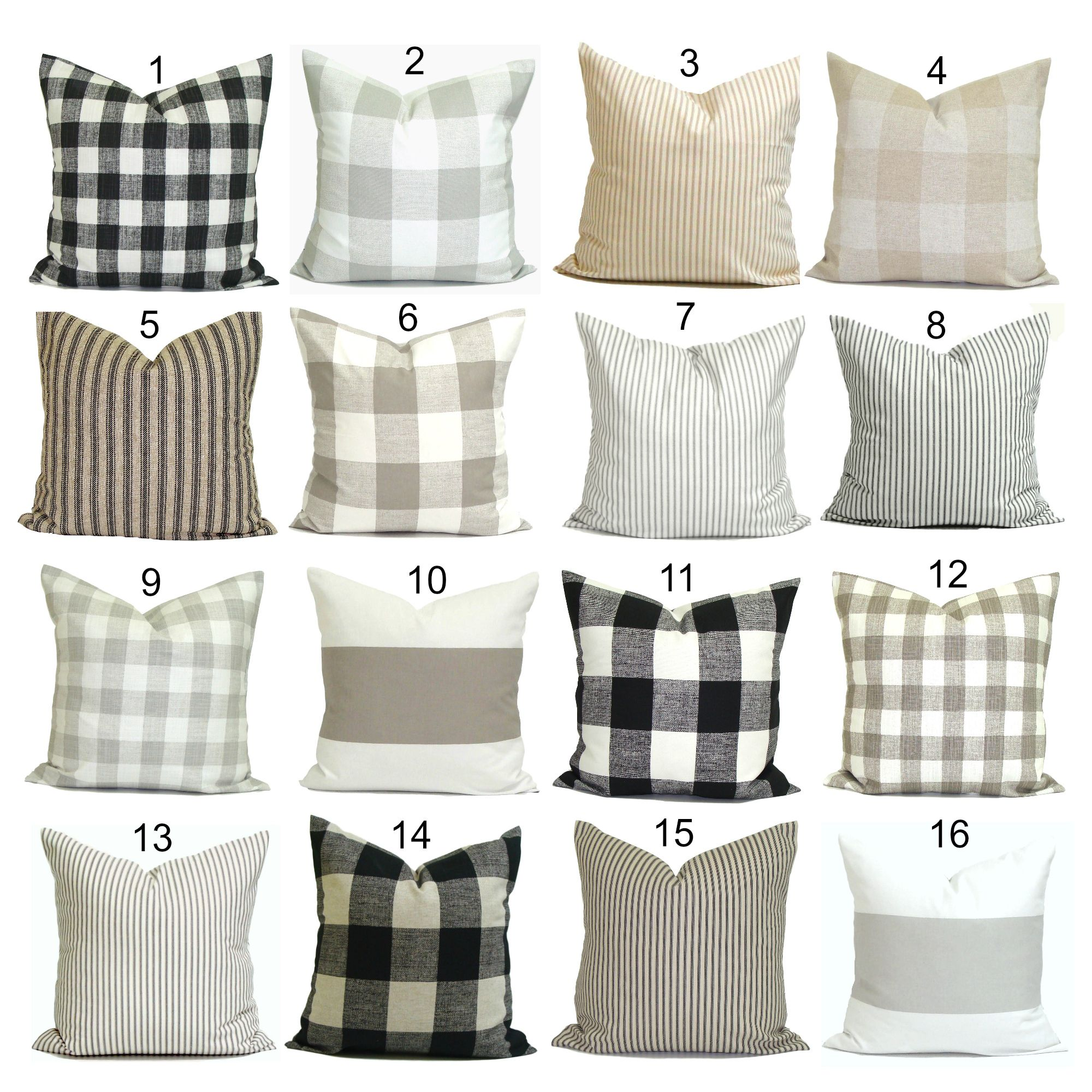 Farmhouse pillow covers by elemenopillows as seen on hgtv