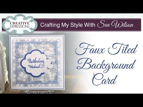 Faux Tiled Background Card