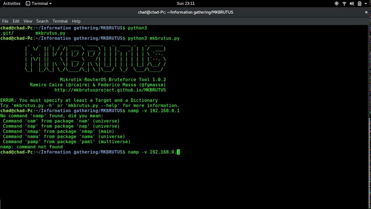 Run a dictionary attack on a microtic router and or routerOS