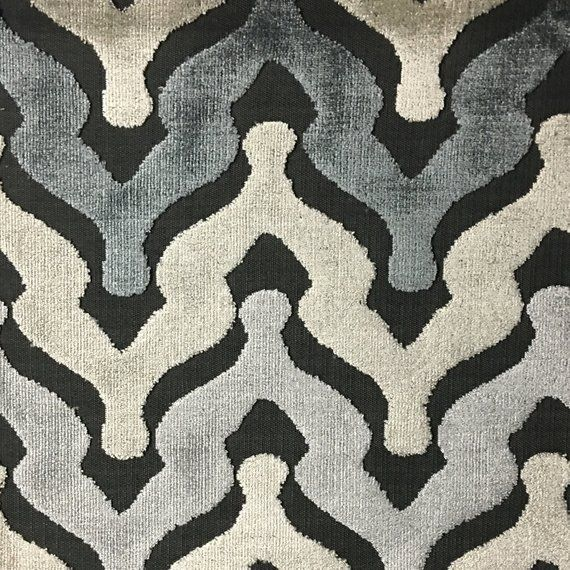 Upholstery Fabric - Leicester - Zinc - Cut Velvet Home Decor Upholstery, Drapery, & Pillow Fabric by #velvetupholsteryfabric