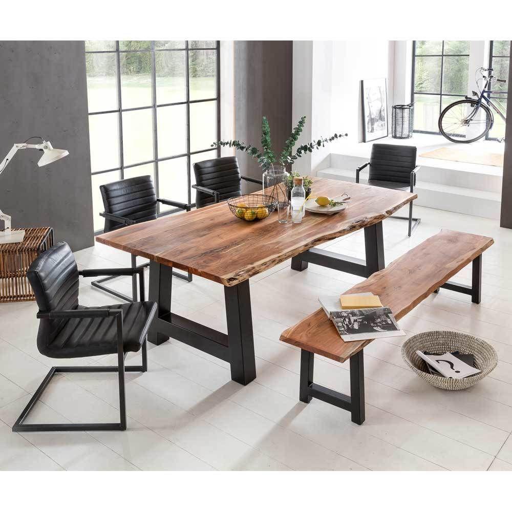 Esstisch mit Stühlen mit Baumkante Bank (6-teilig) Jetzt bestellen ...