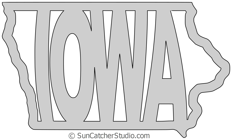 Iowa Printable Map