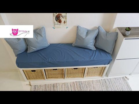 sitzbank mit bezug und kissen ikea hack diy eule youtube diy n hen pinterest kissen. Black Bedroom Furniture Sets. Home Design Ideas
