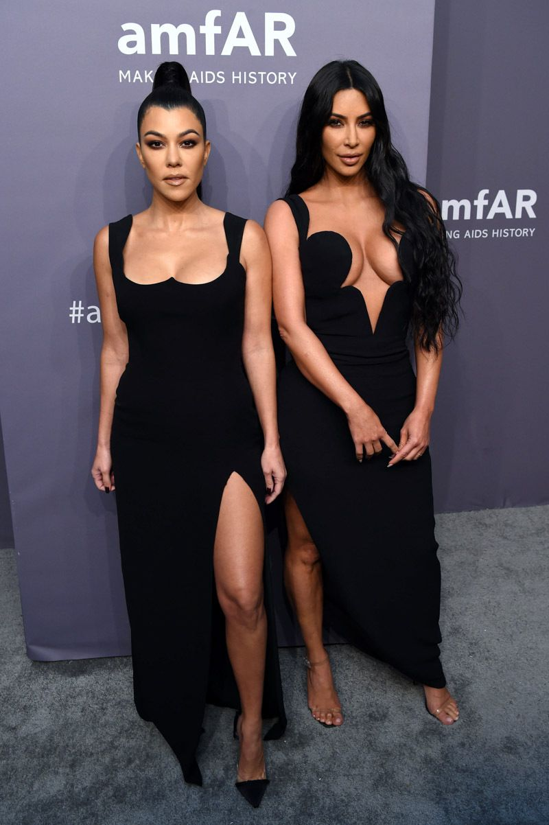 a947539c668 Kourtney Kardashian and Kim Kardashian West arrive at the 2019 amFAR Gala  duing 2019 Fall Winter New York Fashion Week on Feb. 6