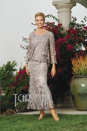 Beautiful silk hand crochet 3 piece beaded gown light for Country wedding mother of the groom dresses