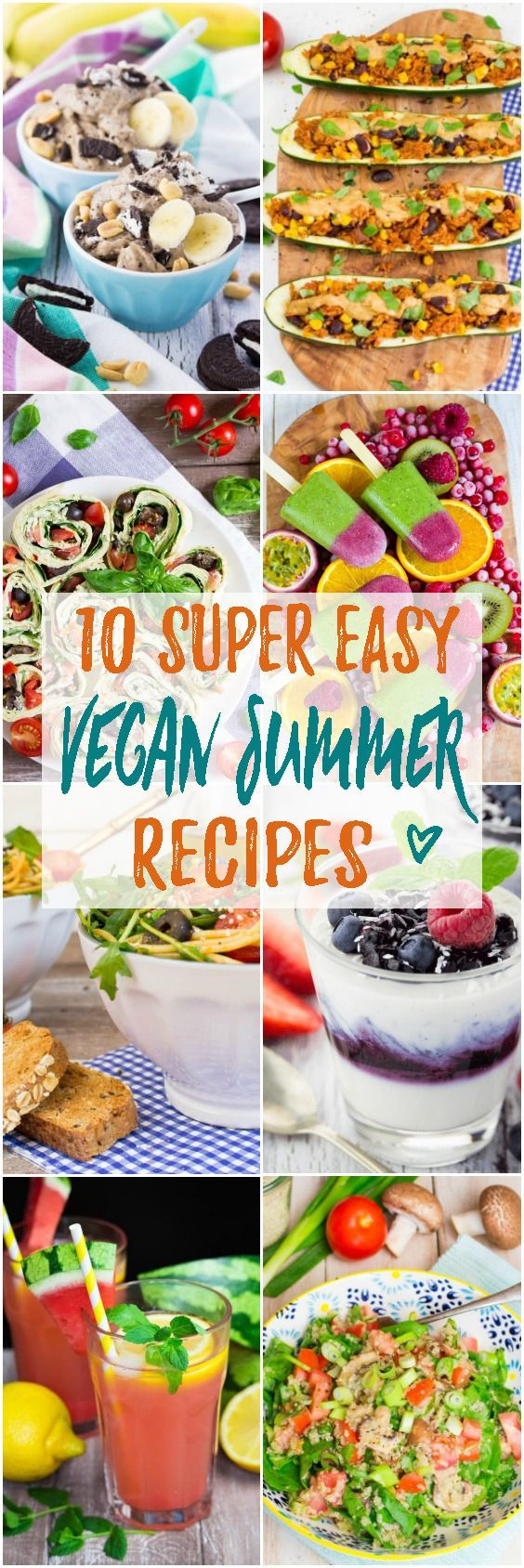 Summer is finally here and to celebrate it I put together this list of 10 delicious vegan summer recipes! Vegan ice cream, vegan salads, wraps, and so much more!