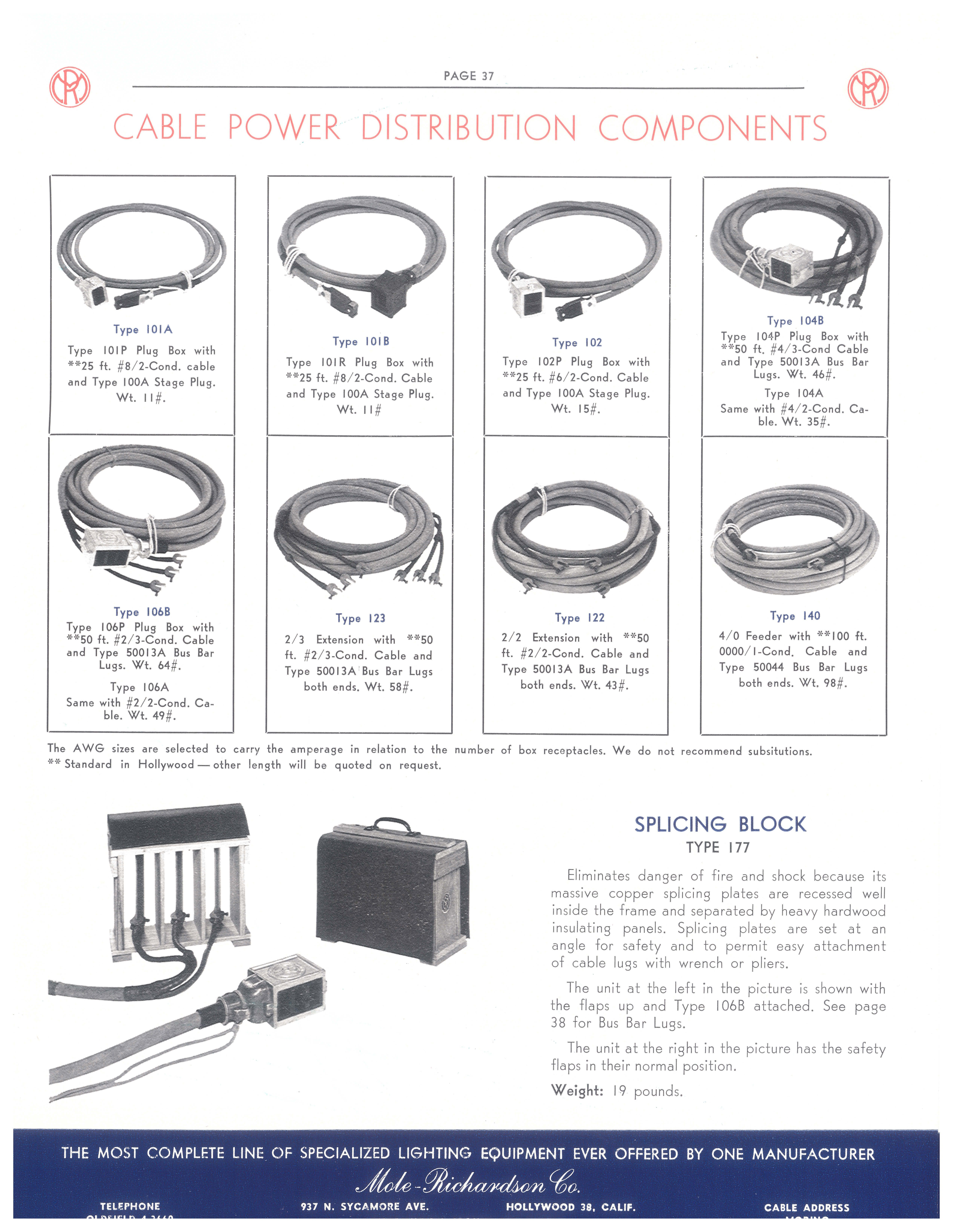 #Cable #Power #Distribution #Components    http://www.mole.com    #light #lighting #gaffer #cinematography #mole #molelight #molerichardson #molerichardsonlighting #arri #film #filmschool