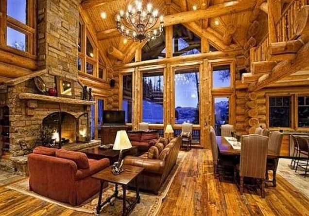 Luxury Log Cabin Homes Interior
