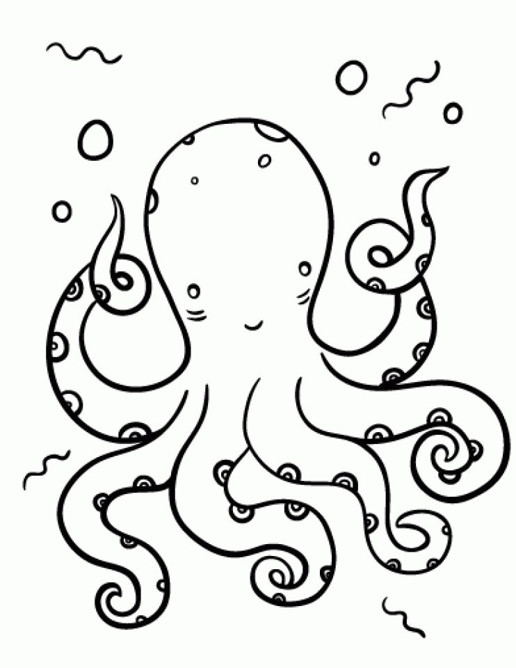 Get This Free Octopus Coloring Pages To Print 590f27 Octopus Coloring Page Coloring Pages Animal Coloring Pages