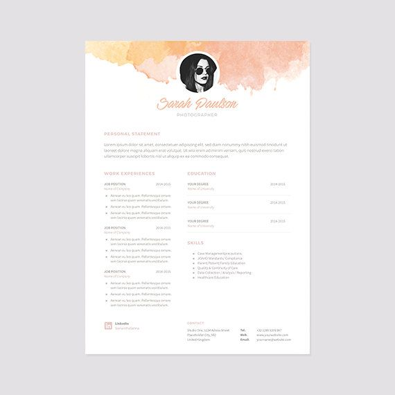 Creative Resume Template Instant Download + Cover Letter | Format MS ...