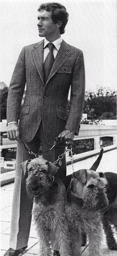 Ralph Lauren ad with Airedales.