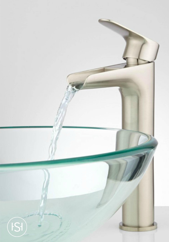 Pagosa Waterfall Vessel Faucet | Waterfall faucet, Modern glass ...
