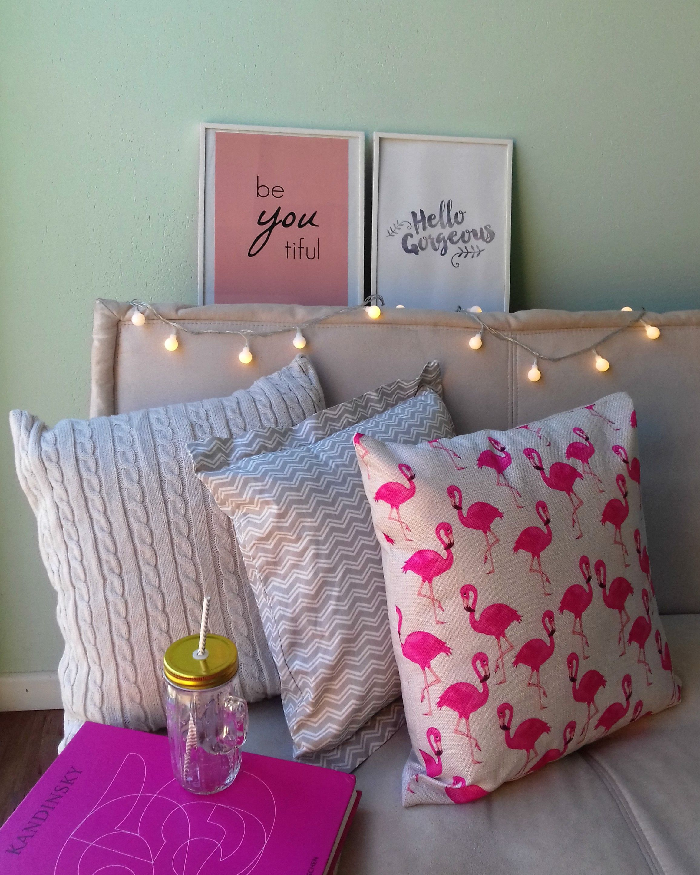 Flamingo Na Decora O Do Quarto E Sala Posters E Pisca Pisca  ~ Pisca Pisca No Quarto Onde Comprar
