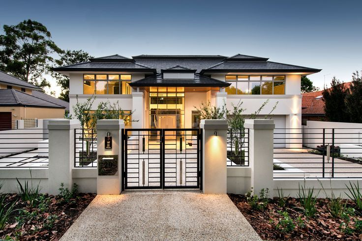 50 Modern Front Yard Designs And Ideas Renoguide Australian Renovation Ideas And Inspiration House Fence Design House Gate Design House Exterior