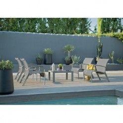 Salon de jardin 5 pièces Lounge Salon de jardin constitué de 4 ...