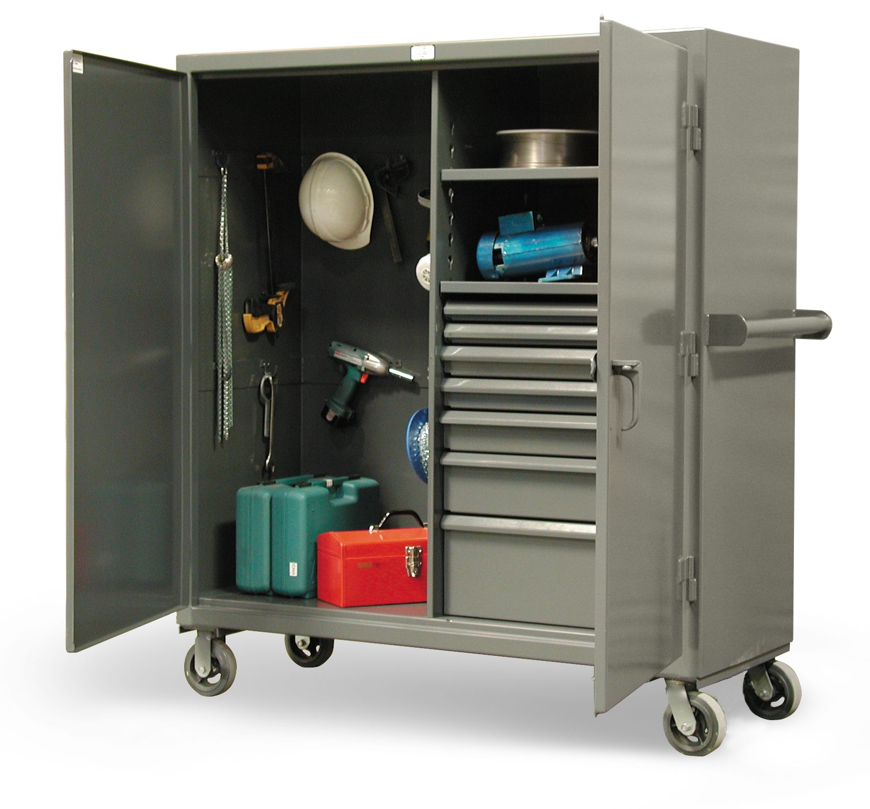 Drawer Mobile Job Cabinet - Heavy duty cabinet with 2 adjustable ...