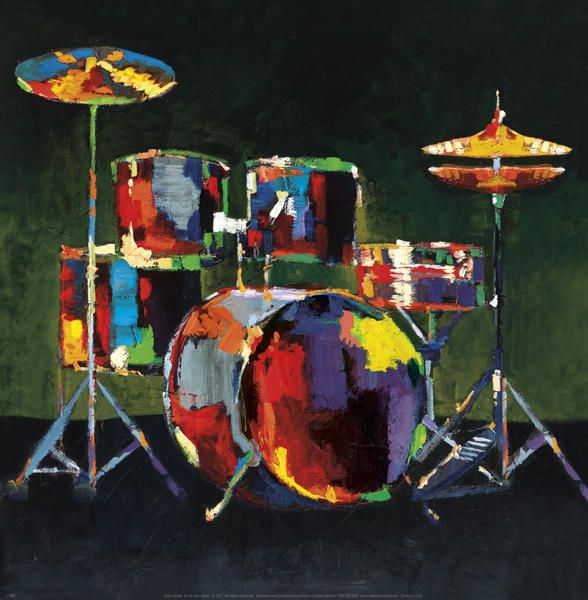 Drum Set Drums Art Posters Art Prints Framed Art Prints