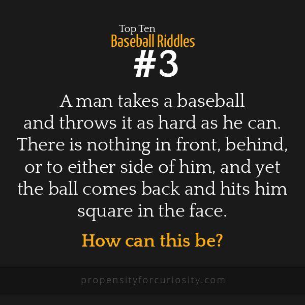 Top ten baseball riddles.   {Middle School} Riddles for ...