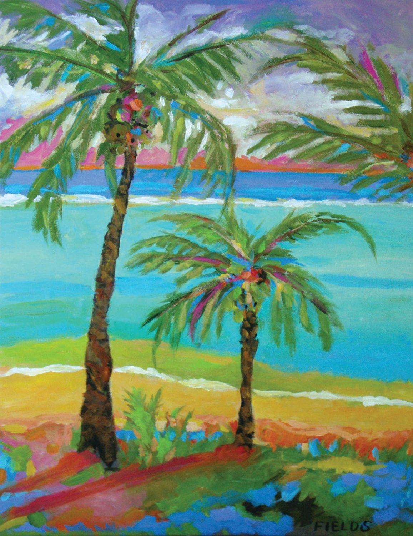 Beach Palm Tree - Karen Fields | Paintings | Pinterest | Palm ...