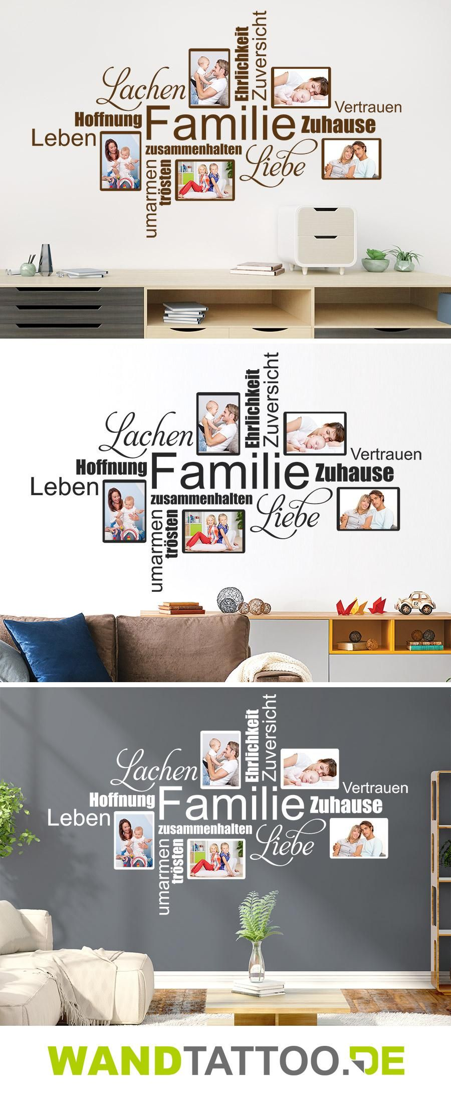Einfache home-office-design-idee fotorahmen wortwolke familie  einrichtung  pinterest  wand wand